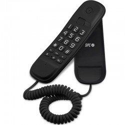 Teléfono de sobremesa o pared compacto spc telecom 3601 negro - teclado grande - 2 memorias directas / 10 indirectas