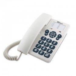 Teléfono de sobremesa o mural spc 3602 blanco - 3 niveles de volumen - opción mute - 3 memorias directas - 10 memorias