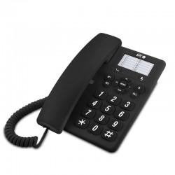 Teléfono de sobremesa spc original negro - 3 niveles de volumen - opción mute - 3 memorias directas - 10 memorias indirectas -