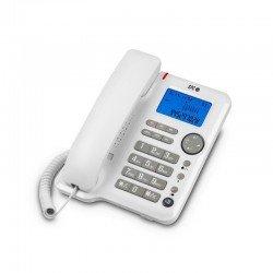 Teléfono de sobremesa o mural spc 3608 office id blanco - manos libres - indicador llamada - luz en pantalla - 3 niveles timbre