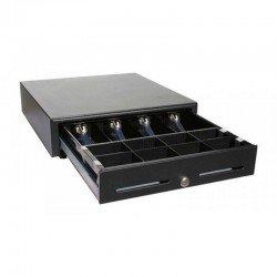 Cajón portamonedas hs-410 apertura automática conexión rj11 41x41 con pisapapeles metálico negro
