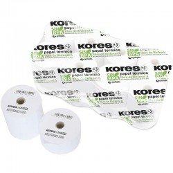 Pack 10 rollos papel térmico sin bpa kores 56654300 - 57*45mm - ø12mm