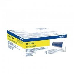 Toner amarillo brother tn421y - 1800 páginas - compatible según especificaciones