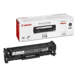 Toner negro canon 718bk - 3400 páginas para impresoras i-sensys lbp7660cdn - lbp7200cdn