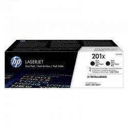 Pack 2 toner negro hp cf400xd  nº 201x - 2800 páginas c/u - jetintelligence - compatible con laserjet pro m252/mfp m277
