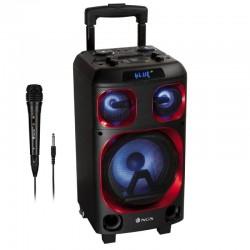 Altavoz portátil ngs wild ska zero - 180w - bt 4.2 tws - usb/sd/aux in - luces led - entrada micrófono / guitarra - micrófono