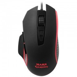 Ratón mars gaming mm018 - 4800dpi - iluminación rgb breathing - 8 botones programables - software de control - cable usb 1.45m