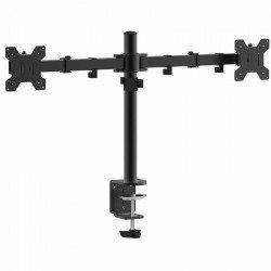 Soporte de mesa con doble brazo articulado approx appsmd02 - para pantallas de 10-27' (25.4-68cm) - peso máximo 10kg - vesa