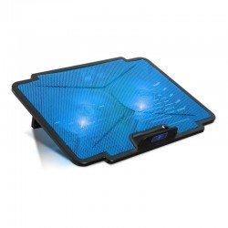 Soporte refrigerante spirit of gamer airblade 100 blue - para portátiles hasta 15.6'/39.6cm - ventiladores 2x12cm - iluminación