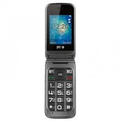 Teléfono móvil libre spc stella - pantalla 2.4'/6.1cm - teclas grandes - dual sim - bt - botón sos - radio fm - agenda 500
