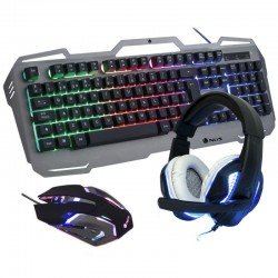 Pack gaming ngs gbx-1500 - teclado rgb usb - ratón óptico 2400dpi usb - auriculares con micrófono