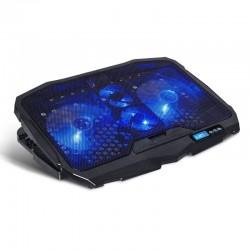 Soporte refrigerante spirit of gamer airblade 600 blue - para portátiles hasta 17.3'/43.9cm - ventiladores 2x12cm 2x7cm -