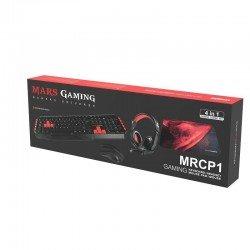 Set mars gaming mrcp1 - teclado 10 teclas función - ratón 2800dpi - alfombrilla - auriculares con micrófono plegable