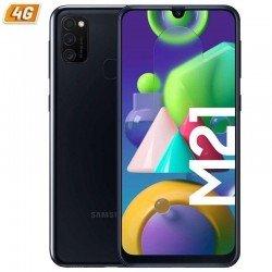 Smartphone móvil samsung galaxy m21 black - 6.4'/16.25cm - cam (48+8+5)/20mp - oc - 64gb - 4gb ram - android - 4g - dual sim -