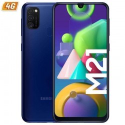 Smartphone móvil samsung galaxy m21 blue - 6.4'/16.25cm - cam (48+8+5)/20mp - oc - 64gb - 4gb ram - android - 4g - dual sim -