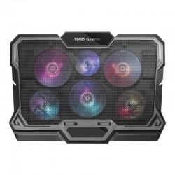 Soporte refrigerante mars gaming mnbc4 - para portátiles hasta 17.3'/43.9cm - 6*ventiladores - formato 2*3 - iluminación rgb