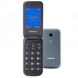 Teléfono móvil panasonic kx-tu400exg gris - pantalla color 2.4'/6.09cm - botón sos - agenda 300 contactos - teclas