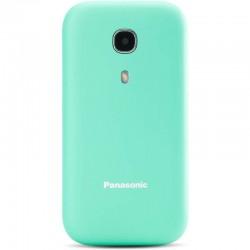Teléfono móvil panasonic kx-tu400exc turquesa - pantalla color 2.4'/6.09cm - botón sos - agenda 300 contactos - teclas