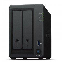Nas synology diskstation ds720+ - cpu intel j4125 - 2gb ddr4 - 2 bahías (3.5/2.5/m2) max. 108tb - 2*rj45 - 2*usb 3.0 - esata