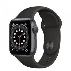 Apple watch s6 40mm gps caja aluminio gris espacial con correa negra sport band - mg133ty/a