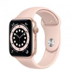 Apple watch s6 44mm gps caja aluminio oro con correa rosa arena sport band - m00e3ty/a
