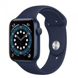 Apple watch s6 44mm gps caja aluminio azul con correa azul marino intenso sport band - m00j3ty/a