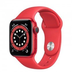 Apple watch s6 44mm gps caja aluminio roja con correa roja sport band - m00m3ty/a