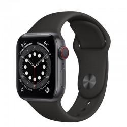 Apple watch s6 40mm gps cellular caja aluminio gris espacial con correa negra sport band - m06p3ty/a