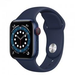 Apple watch s6 40mm gps cellular caja aluminio azul con correa azul marino intenso sport band - m06q