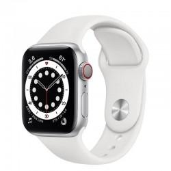 Apple watch s6 40mm gps cellular nike aluminio con correa platino puro y negro nike sport band - m07