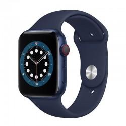Apple watch s6 44mm gps cellular caja aluminio azul con correa azul marino intenso sport band - m09a