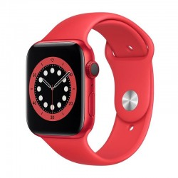 Apple watch s6 44mm gps cellular caja aluminio roja con correa roja sport band - m09c3ty/a