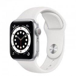 Apple watch s6 40mm gps caja aluminio con correa blanca sport band - mg283ty/a