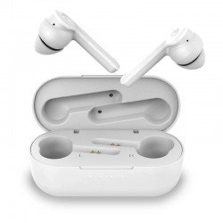 Auriculares bluetooth hiditec vesta white - bt5.0 tws - ipx5 - drivers 6mm - estuche de carga 500mah - usb - modo gaming -