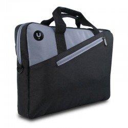 Maletín monray ginger black 14 - para portátiles hasta 14'/35.5cm - 2 compartimentos - nylon gran resistencia - banda para
