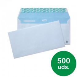 Caja de 500 sobres americanos sam pacsa opensam 247684 - 115*225 mm - papel blanco 90 grs - autoadhesivo - tira de silicona