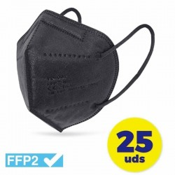 Mascarillas ffp2 club náutico/ pack 25 uds/ negras
